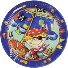 PAPSTAR Papírové párty talíře s motivem pirátů 11786