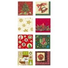 PAPSTAR Vánoční ubrousky papírové, 20 ks, 33 x 33 cm různé vánoční motivy
