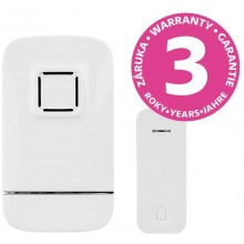 PANLUX PIEZO BELL bezdrátový zvonek do zásuvky s bezbateriovým tlačítkem, bílá PN75000004