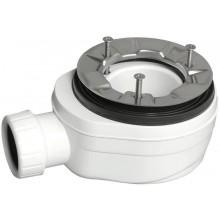 POLYSAN Sifon pro vaničky se záklopem a FLEXIA 90mm, nízký s nerez přírubou