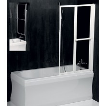 POLYSAN Vanová zástěna LANKA2 820mm, bílý rám, čiré sklo