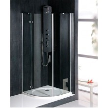 VÝPRODEJ POLYSAN VITRA LINE čtvrtkruhová sprchová zástěna 800x800mm, R550, čiré sklo, pravá