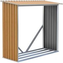 G21 WOH 136 Přístřešek na dřevo 182 x 75 cm, hnědý 63900495