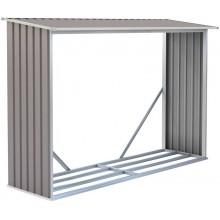G21 WOH 181 Přístřešek na dřevo 242 x 75 cm, šedý 63900494