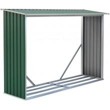 G21 WOH 181 Přístřešek na dřevo 242 x 75 cm, zelený 63900492