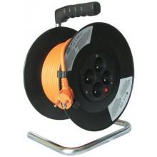 SOLIGHT Prodlužovací kabel 3x1,5mm2 buben 25m, 4x zásuvka PB03