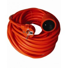 SOLIGHT Prodlužovací kabel 1z. 20m, 3x1mm2, oranžový PS17