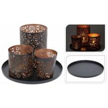 ProGarden Dekorativní svícen na 3 čajové svíčky KO-A04420240