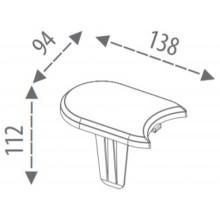 Prosperplast Palisáda zahradní 382,7x1,2cm šedý kámen IPAK1