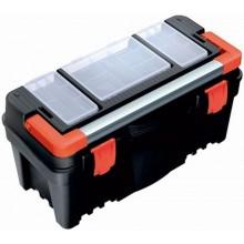 PROSPERPLAST MUSTANG Plastový kufr na nářadí černý, 550 x 267 x 277 mm N22R2A