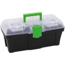 PROSPERPLAST GREENBOX Plastový kufr na nářadí transparentní, 300 x 167 x 150 mm N12G