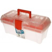 PROSPERPLAST ICECUBE Plastový kufr na nářadí transparentní, 398 x 200 x 186 mm N15ICE
