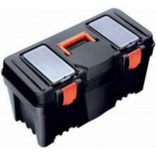 PROSPERPLAST MUSTANG Plastový kufr na nářadí černý, 597 x 285 x 320 mm N25R