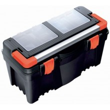 PROSPERPLAST MUSTANG Plastový kufr na nářadí černý, 598 x 286 x 327 mm N25R2A
