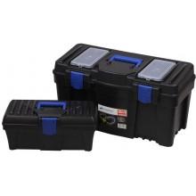 PROSPERPLAST SETBOX 2v1 Sada kufrů na nářadí, černá NBX1525
