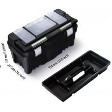 PROSPERPLAST PRACTIC Plastový kufr na nářadí černý, 550 x 267 x 277 mm N22AFI