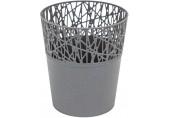 PROSPERPLAST CITY Květináč s krajkou 11,3 cm, šedý kámen DCIT115