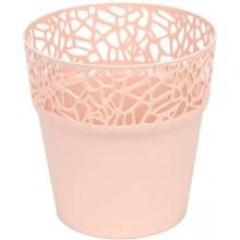 Prosperplast NATURO Květináč s krajkou 12 cm, broskev DNAT120