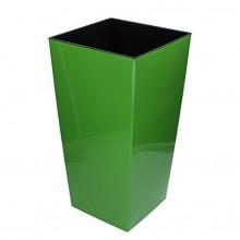 Květináč URBI SQUARE 17 cm, 3/7,2l, zelená DURS170