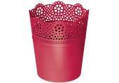 Prosperplast LACE květináč s krajkou 3,5 x 15,5 cm, červená DLAC140