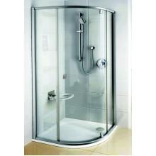 RAVAK PIVOT PSKK3-90 sprchový čtvrtkruhový kout, satin/satin Transparent 37677U00Z1