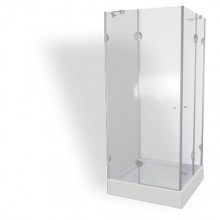 TEIKO PSKRH 2/80 S sprchový kout čtvercový čiré sklo V332080N52T12003
