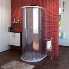 POLYSAN LUCIS LINE půlkruhová sprchová zástěna 900x900mm, čiré sklo