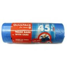 Pytle do odpadkových košů s uchy HD 45 l/ 20 ks - modré Q173