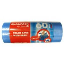 Pytle do odpadkových košů s uchy HD 60 l/ 26 ks - modré Q174