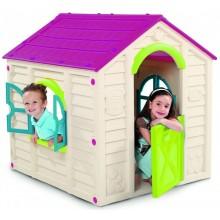 KETER RANCHO PLAYHOUSE dětský domek, krémová/fialová 17609669