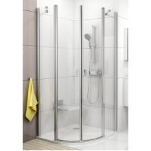 RAVAK CHROME CSKK4-80 čtvrtkruhový sprchový kout, bright alu+transparent 3Q140C00Z1