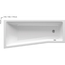 RAVAK BeHappy II Vana 160x75 cm, pravá C971000000