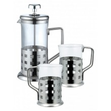 RENBERG French press 800ml nerez sada 3 ks RB-3044