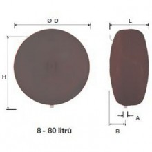 Reflex topná expanzní nádoba EN R 8/3 šedá