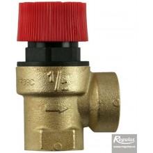 """REGULUS Pojistný ventil 1,5 bar, G 1/2"""" F/F PV 1,5 1/2"""" F/F"""