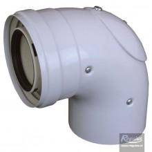 REGULUS koleno 90° 60/100 PP s inspečním otvorem 12756