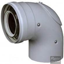 REGULUS koleno 80/125 90 s kontrolním otvorem A2005120