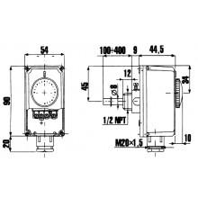 REGULUS TPS1-1000 Termostat prov. zakryt. na jímku 0-90°C, čidlo 5,8x100 13620