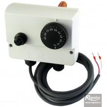 REGULUS PT1000 Termostat provozní zakrytovaný na jímku dvojitý 0-90/100°C s čidlem 14105