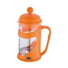 RENBERG Konvička na čaj a kávu French Press 350 ml oranžová RB-3100oran