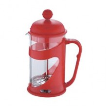 RENBERG Konvička na čaj a kávu French Press 800 ml červená RB-3102cerv