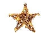 RETLUX RXL 155 AA LED Vánoční osvětlení hvězda ratan 250mm WW teplá bílá 50002298