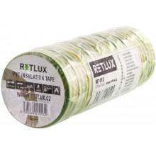 RETLUX RIT 012 izolační páska 10ks 0,13x15x10, zelenožlutá 50002518