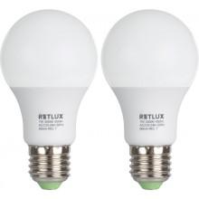 RETLUX REL 7 set LED žárovek A60 2x7W E27 50001432