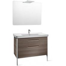 Roca Pack Dama nábytková sestava 100 cm, s umyvadlem, zrcadlem s osvětlením, khaki 7855813149