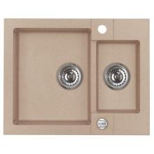 ALVEUS ROCK 80 granitový kuchyňský dřez 595x475 mm, béžová