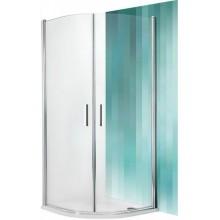 ROLTECHNIK Čtvrtkruhový sprchový kout TR1/1000 stříbro/transparent 722-1000000-01-02