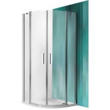 ROLTECHNIK Čtvrtkruhový sprchový kout TR2/1000 stříbro/transparent 723-1000000-01-02