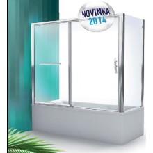 ROLTECHNIK Vanová zástěna posuvná PXV2L/1800 - brillant/ transparent