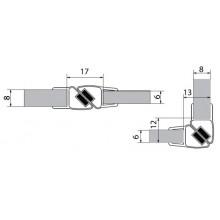 VITRA LINE sada dvou magnetických těsnění na 6 a 8mm sklo délka 2000mm